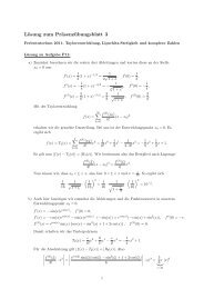 Lösung zum Präsenzübungsblatt 3