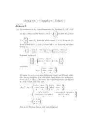 Lösung zum 9.¨Ubungsblatt - Aufgabe 5