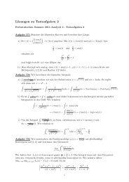 Lösungen zu Testaufgaben 2