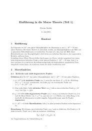 Einführung in die Morse Theorie (Teil 1)