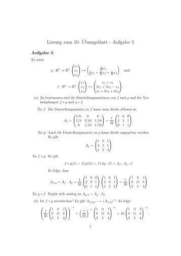 Lösung zum 10.¨Ubungsblatt - Aufgabe 3