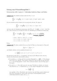 Lösung zum Präsenzübungsblatt 1