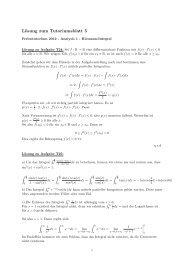 Lösung zum Tutoriumsblatt 5