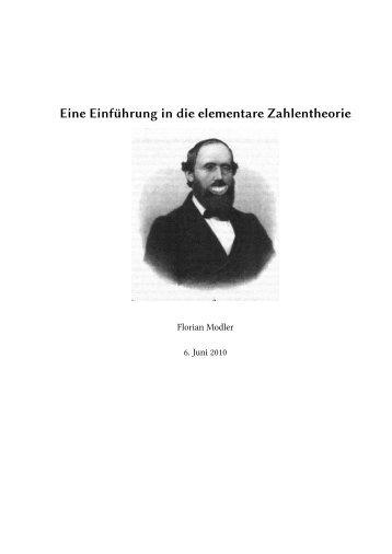 Eine Einführung in die elementare Zahlentheorie