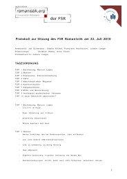 Protokoll vom 22.07.2010