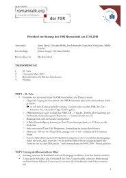 Protokoll vom 27.01.2010