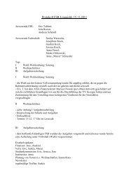 Protokoll FSR Linguistik 15.11.2011