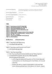 Protokoll vom 10.01.2013