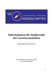 Erstiheft 2012 - Universität Potsdam