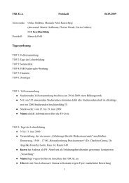 Protokoll vom 06. Mai 2009