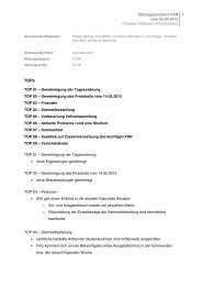 Protokoll vom 05.04.2013
