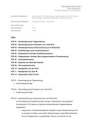 Protokoll vom 10.05.2012