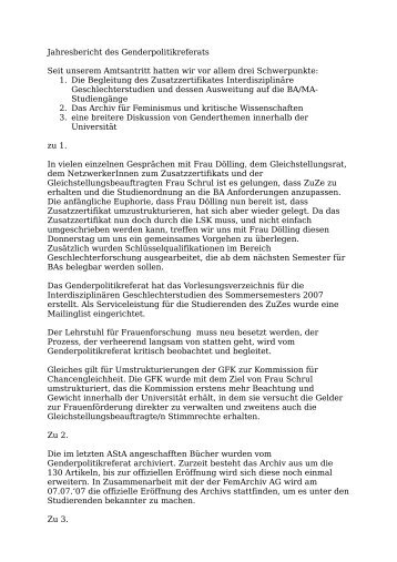 Genderpolitik – Lena Herrera Piekarski & Jana Elena Bosse