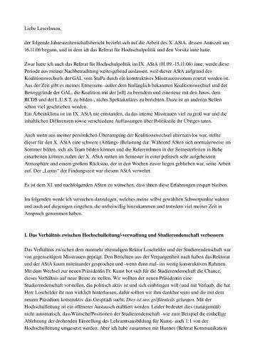 Hochschulpolitik – Tobias Dornisch