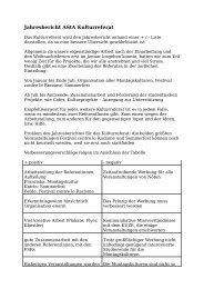 Jahresbericht AStA Kulturreferat