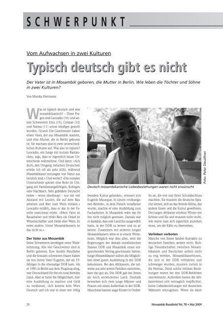 Typisch deutsch gibt es nicht Typisch deutsch gibt es nicht