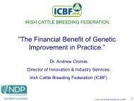 """""""The Financial Benefit of Genetic Improvement in Practice."""""""