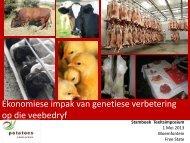 Ekonomiese impak van genetiese verbetering op die ... - Stamboek