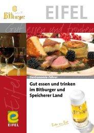 Gut essen und trinken im Bitburger und Speicherer Land