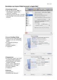 Einrichten von hsmw E-‐Mail Accounts in Apple Mail