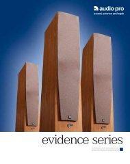 evidence series - Audio Pro