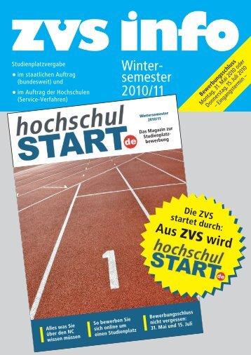 Magazin hochschulstart (zvs info) - Studentenpilot.de