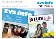 Über das zvs info - Studentenpilot.de