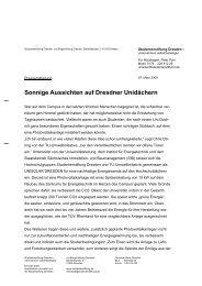 Sonnige Aussichten auf Dresdner Unidächern - Studentenstiftung ...