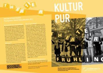 Interview mit Andy Kreichelt, Pressesprecher Theaterfrühling ...