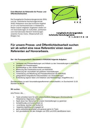 Ausschreibung PR-Referentin 4-2011