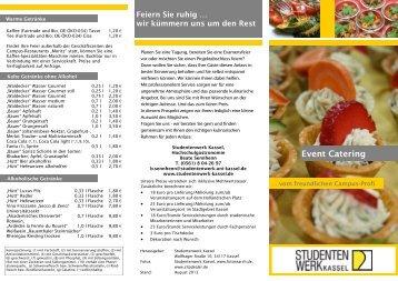 Event Catering - Studentenwerk Kassel