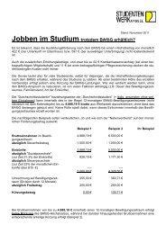 Jobben im Studium - Studentenwerk Kassel