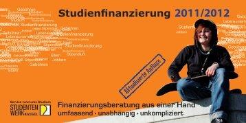 Studienfinanzierung 2011/2012 - Studentenwerk Kassel