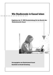 17. Sozialerhebung / Auswertung Kassel (PDF-Datei 666 KB)