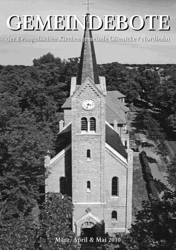 Gemeindebote März/April/Mai 2010 - Evangelische ...