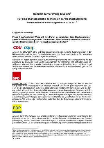 Wahlprüfstein zur Bundestagswahl 2013 (PDF, 187 KB) - Deutsches ...