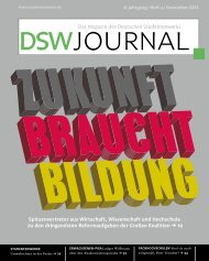 DSW-Journal - Deutsches Studentenwerk
