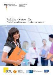 Praktika – Nutzen für Praktikanten und Unternehmen - Deutsches ...