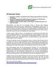 50 Semester Kultur - Deutsches Studentenwerk