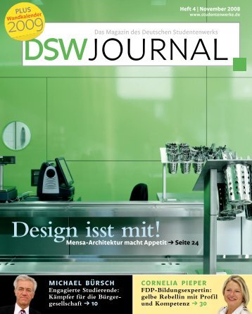 DSW Journal – Heft 4 | November 2008 - Deutsches Studentenwerk