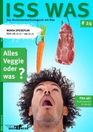 Alles Veggie oder was ? - Studentenwerk Frankfurt am Main