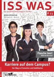 Karriere auf dem Campus? - Studentenwerk Frankfurt am Main