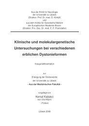Klinische und molekulargenetische Untersuchungen bei ...