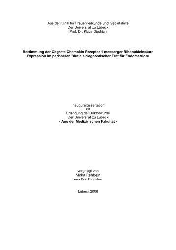 Bestimmung der Cognate Chemokin Rezeptor 1 messenger ...
