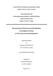 Biomechanische Evaluierung des BoneWelding im spongiösen ...