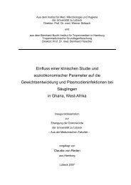 Einfluss einer klinischen Studie und sozioökonomischer Parameter ...
