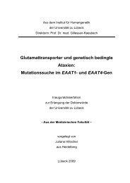 Glutamattransporter und genetisch bedingte Ataxien - Universität zu ...