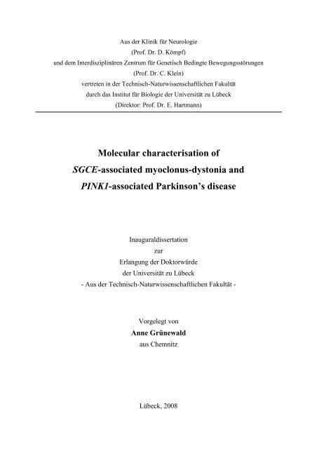 Molecular characterisation of SGCE-associated myoclonus-dystonia ...
