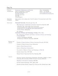 Curriculum Vitae - Student Home Pages - Newcastle University