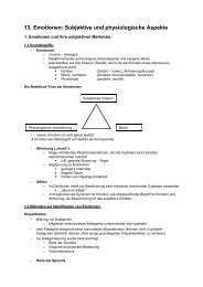 13. Emotionen: Subjektive und physiologische Aspekte